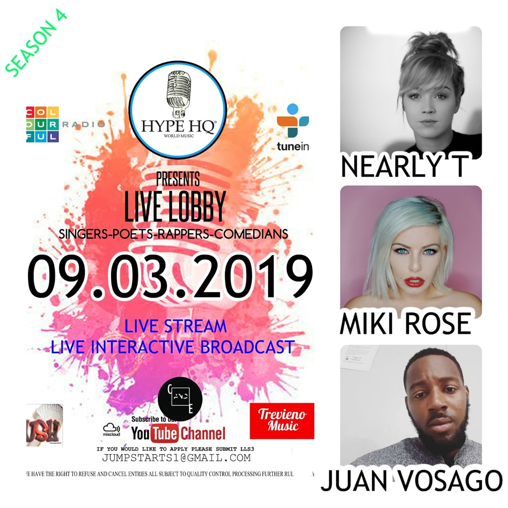 Live Lobbey - Nearly T,  Miki Rose, Juan Vosago