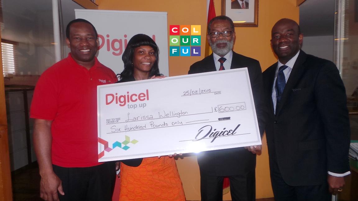Digicel - Start The Year On Us winner - Larissa Wellington