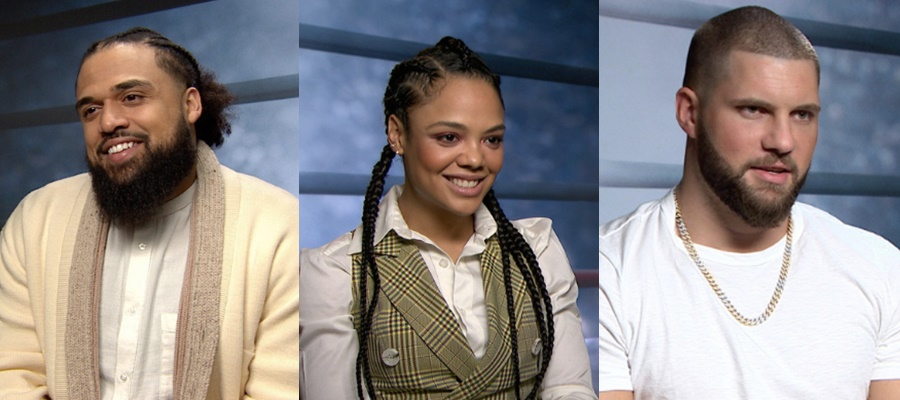 Director - Steven Cable Jr, Actress Tessa Thompson and Actor Florian Munteaunu