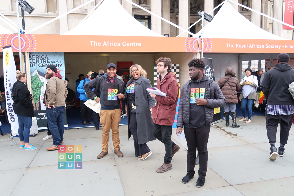 Colourful Radio Live Broadcast from Africa on the Square
