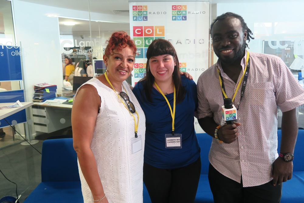 Colourful Radio Broadcast from Lambeth Big Careers Day