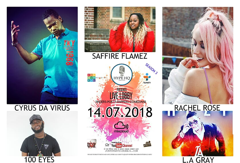 Live Lobbey - Cyrus Da Virus, Saffire Flamez, Rachel Rose, 100 Eyes and L.A. Gray