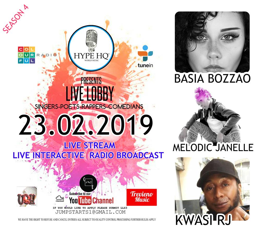 Live Lobby - Basia Bozzao, Melodic Janelle, Kwasi RJ
