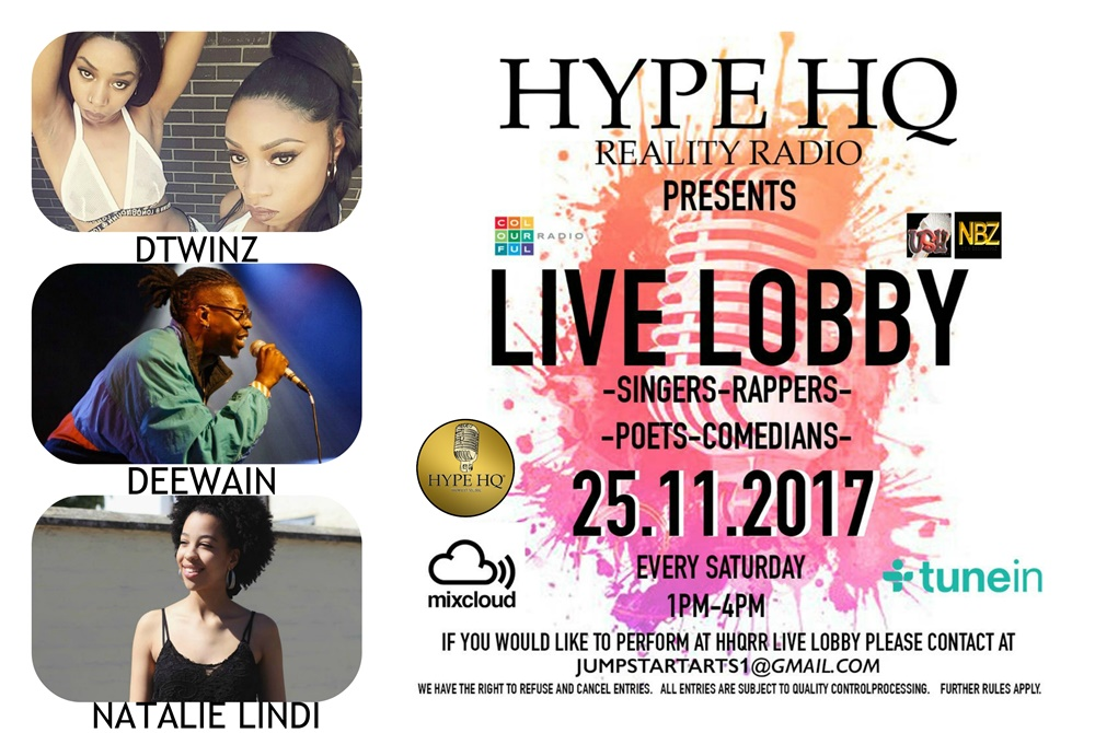 Live Lobby - DTwinz, Deewain and Natalie Lindi,