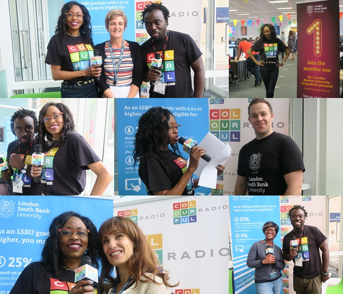 Colourful Radio broadcast LIVE from London South Bank University (LSBU)