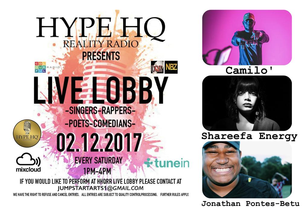 Live Lobby - Shareefa, Camilo and Jonathan Pontes-Betu