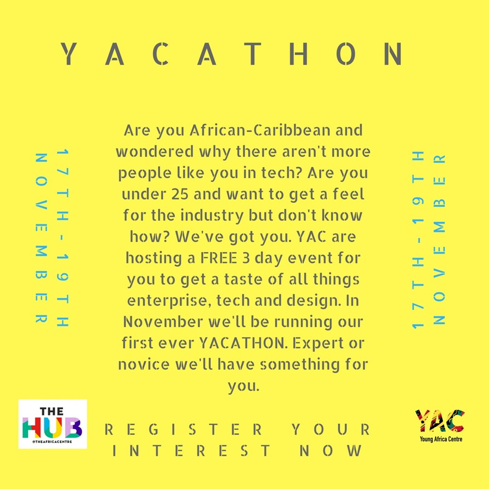 The Young Africa Centre (YAC) is hosting their first ever YACATHON