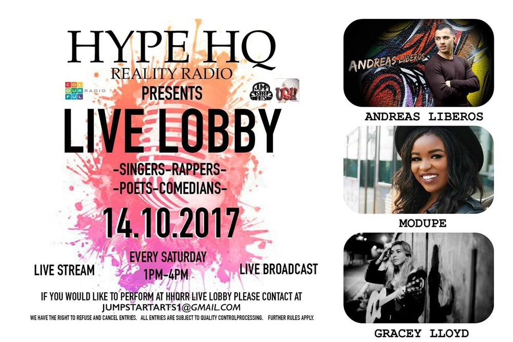 Live Lobby - Andreas Liberos, Modupé and Gracey Lloyd