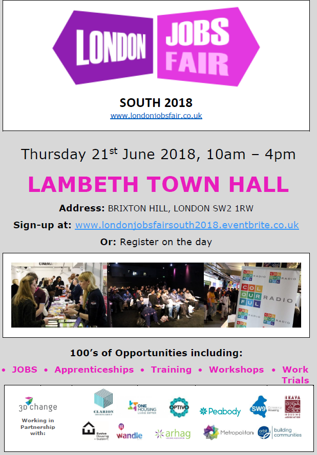 The London Jobs Fair is Coming to Lambeth Town Hall