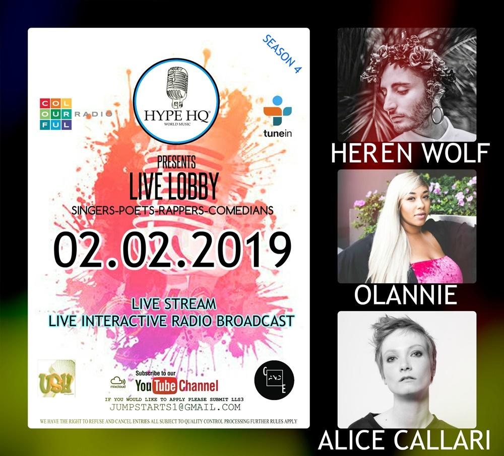 Live Lobby - Heren Wolf, Olannie, Alice Callari