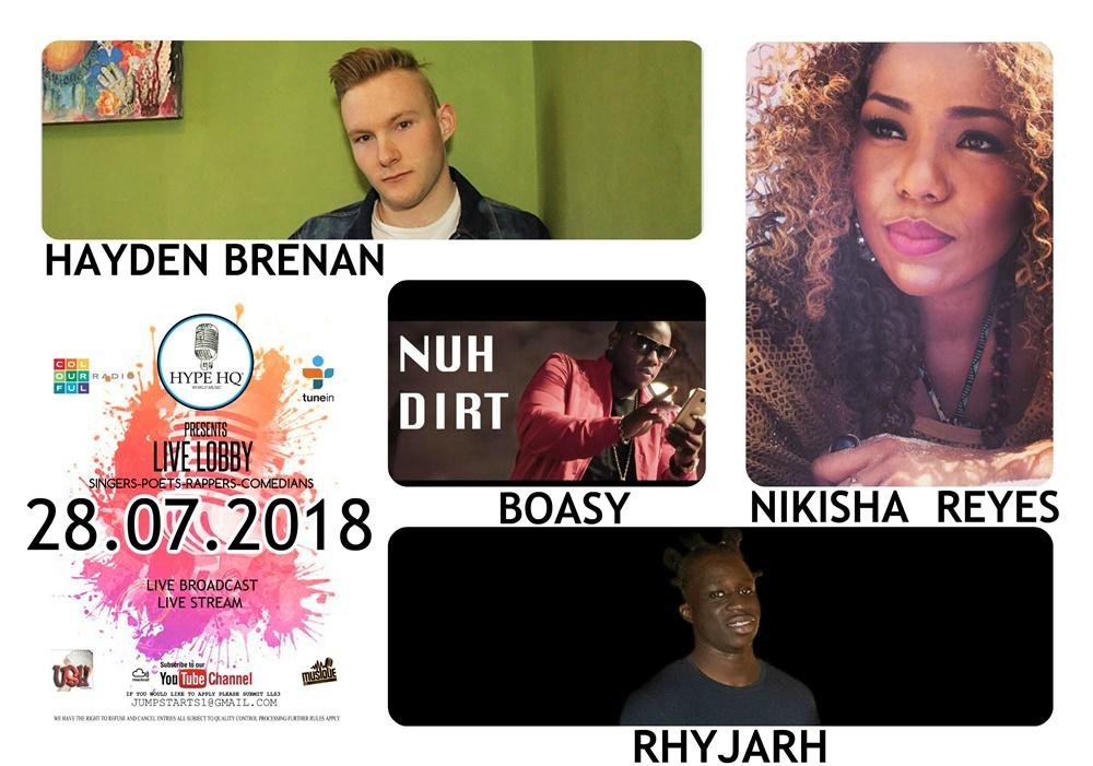 Live Lobbey - Hayden Brenan, Boasy, Nikisha Reyes, Rhyjarh