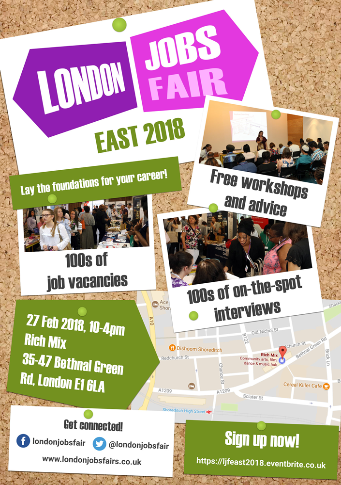 The London Jobs Fair is going EAST in 2018