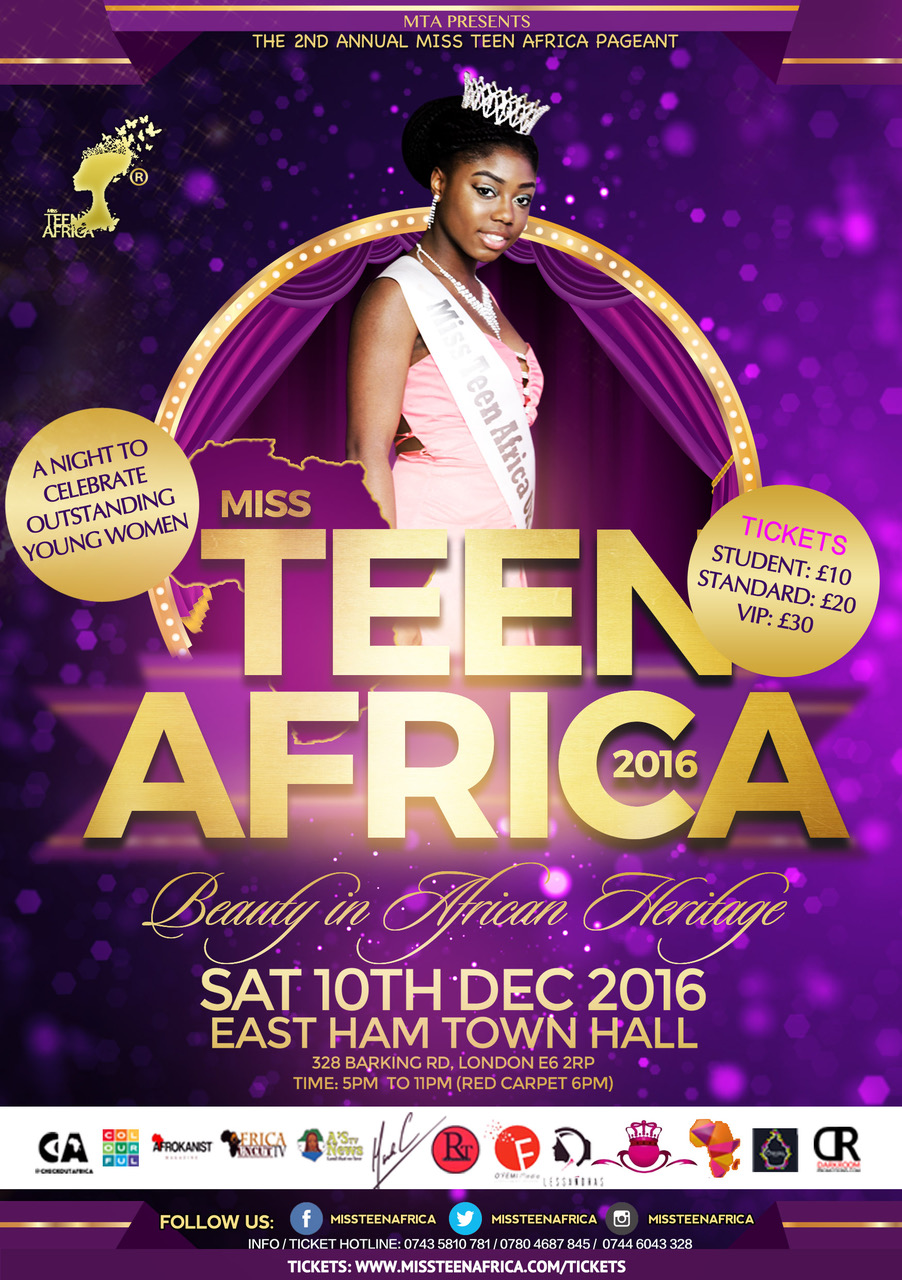 Miss Teen Africa Beauty Pageant 2016