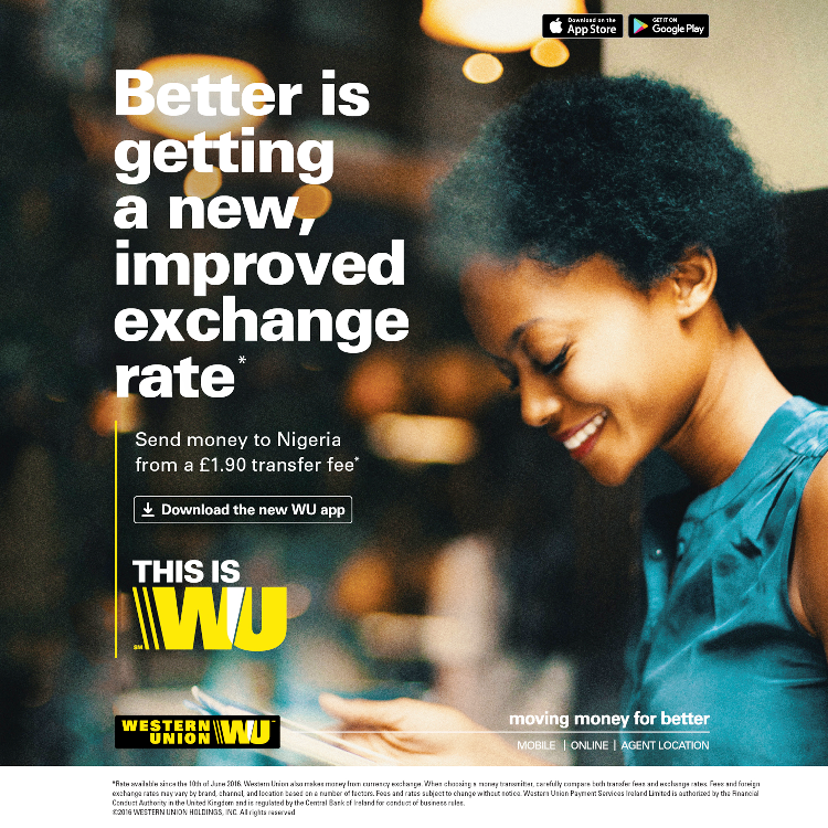 Western Union - Better is getting a new, improved exchange rate to Nigeria