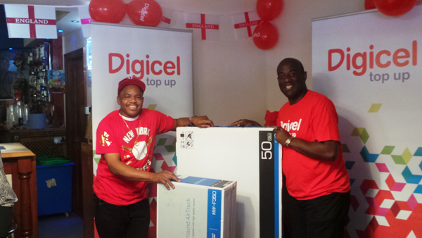 Dennis Pappin of Luton wins a 50in TV courtesy of Digicel Group