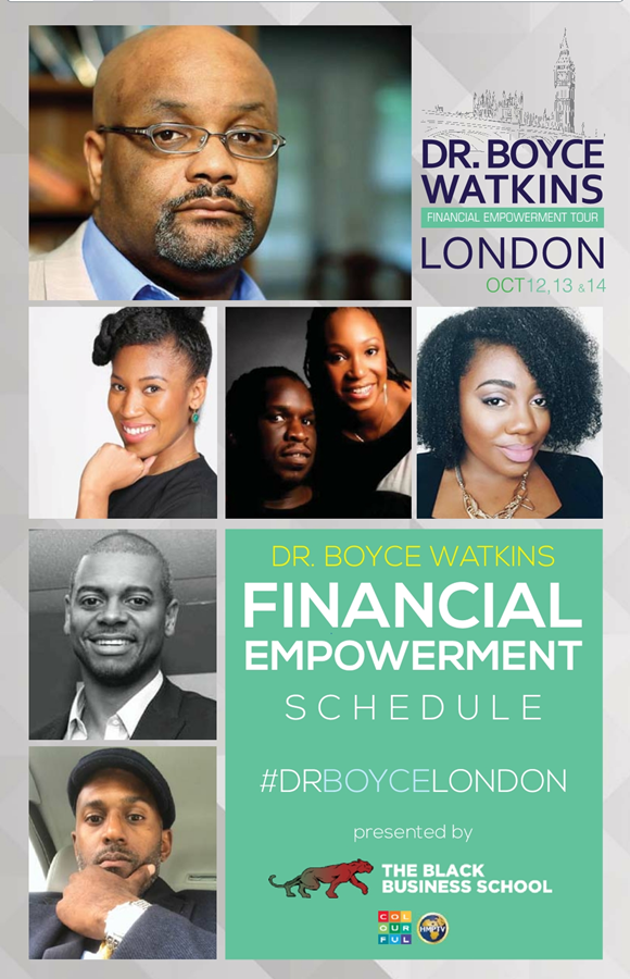 Dr Boyce Watkins Black Economic Empowerment Tour London 2017