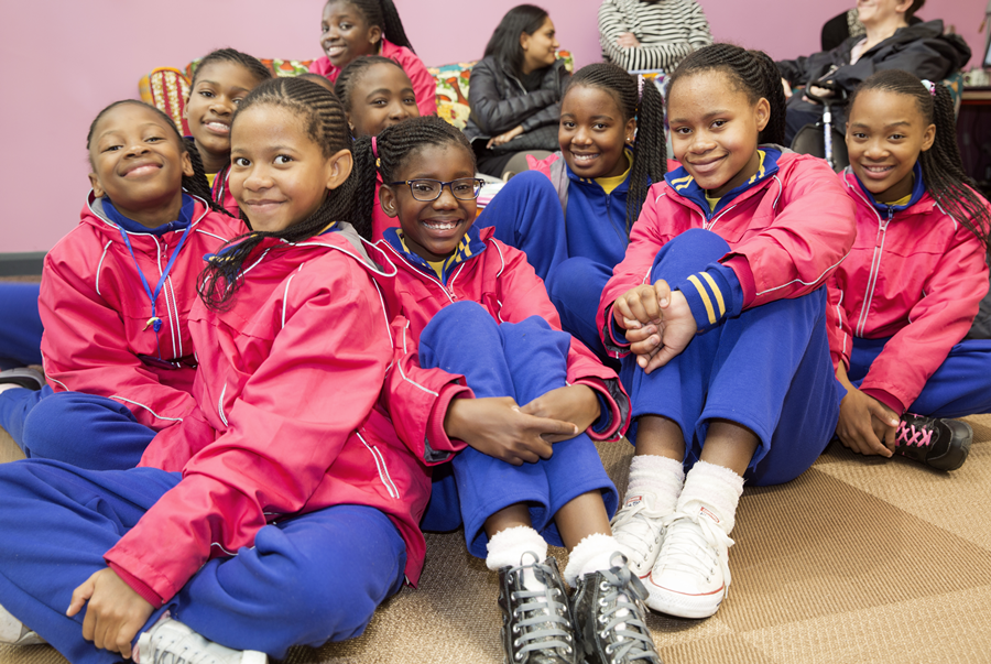 Education Africa gifted young girls perform LIVE