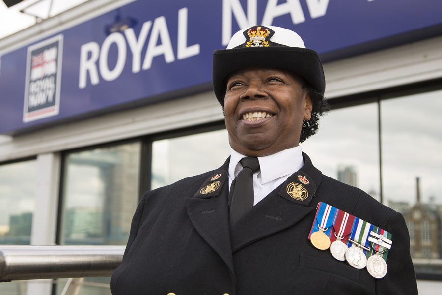 Evadne Gordon - 40 years of service as a Royal Navy Reserve