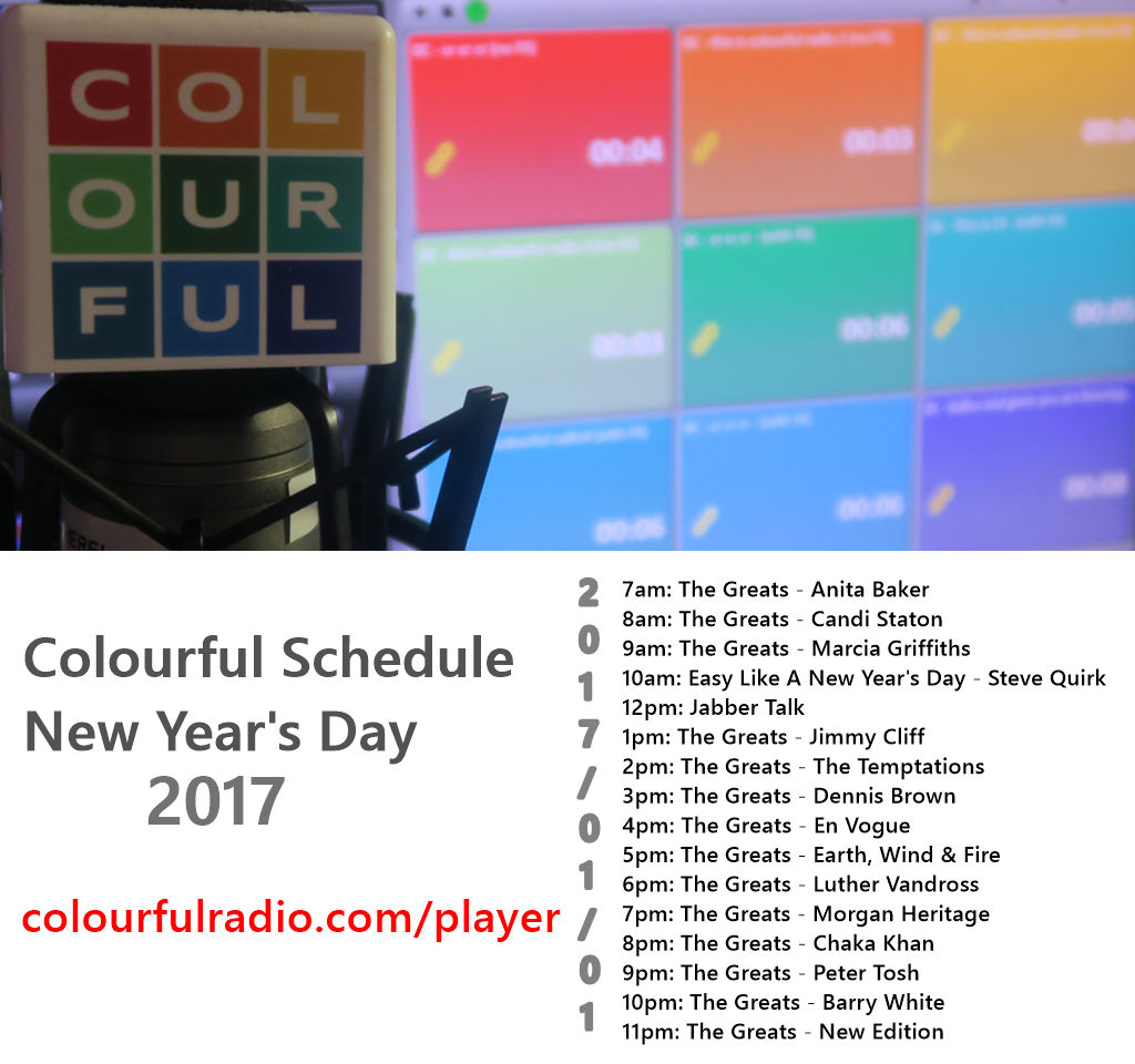 Colourful New Year Day Schedule (2017)