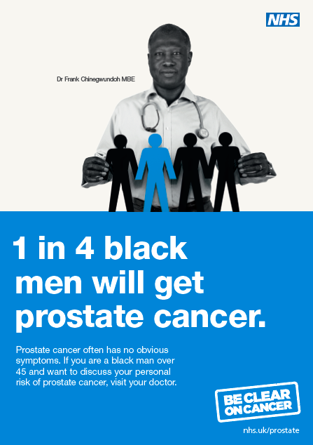 1 in 4 black men will get prostate cancer in their lifetime