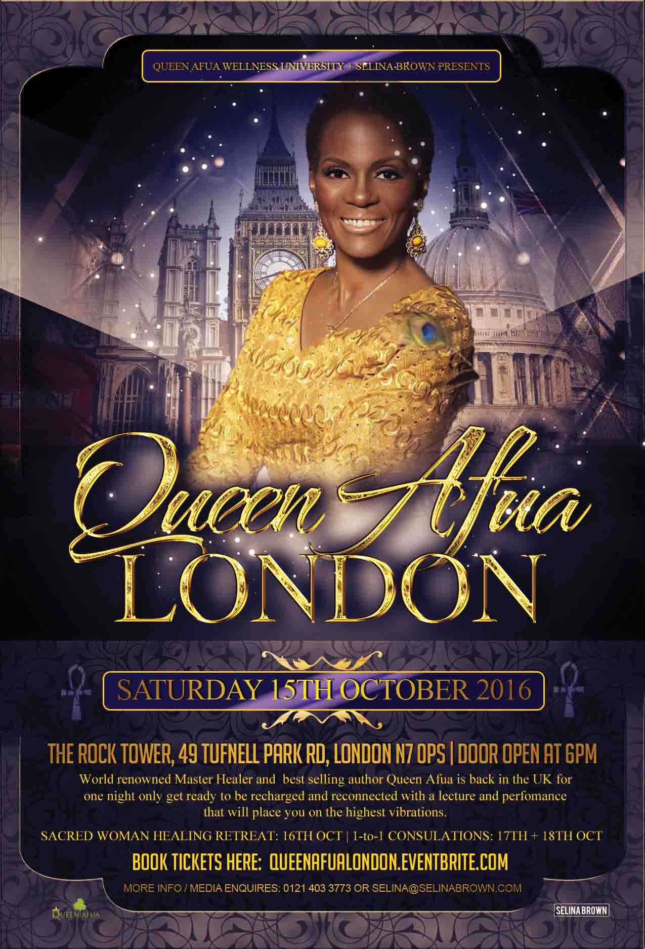 Queen Afua London Showcase